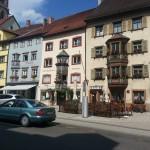 Erkerhäuser in der Altstadt in Rottweil