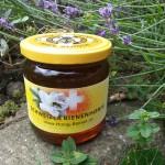 Honig-Bienen Blütenhonig im Glas