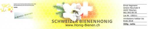 Etikette für die Honiggläser