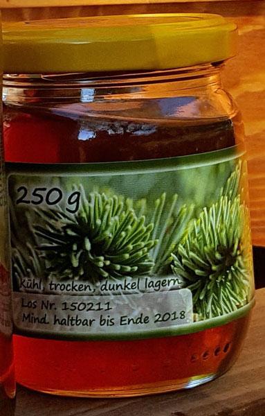 Weisstannenhonig im 250g Glas