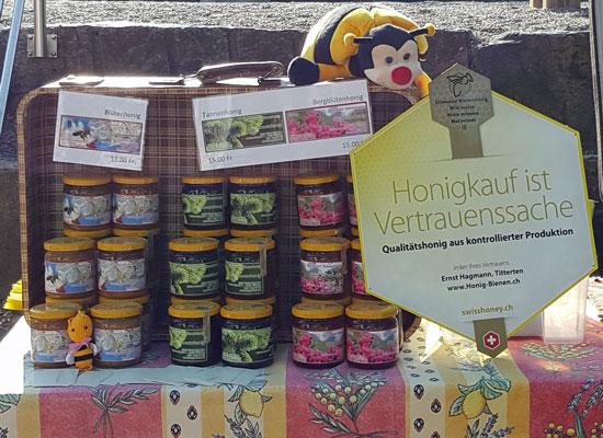 Weihnachtsmarkt Liestal mit Honig Degustation