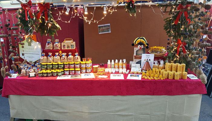 Weihnachtsmarkt Liestal mit Bienenwachskerzen