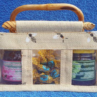 Honig Geschenk Tasche Bergblütenhonig-Bonbon-Bergblütenhonig